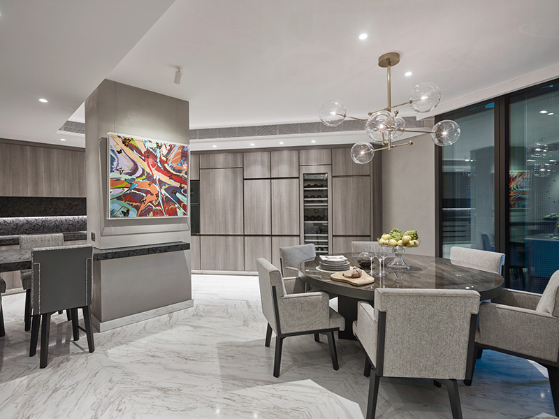 Kitchen in One Hyde Park, London, by Elicyon