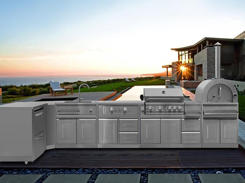 Outdoor modular kitchen by Thor
