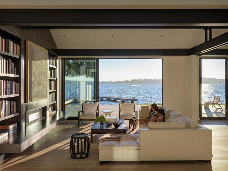 Olson Kundig forest home with lake view