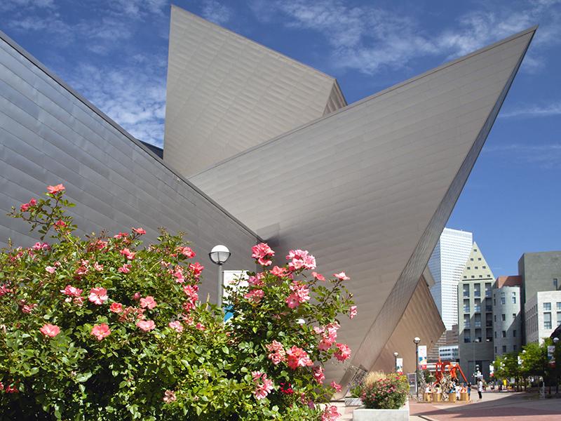 Denver Art Museum's architectural Hamilton Building