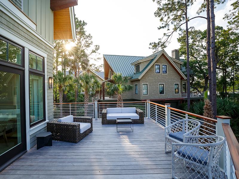 The deck of a home in Indigo Park, South Carolina