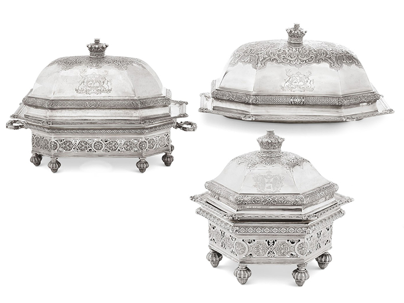 Examples of French Regence silver