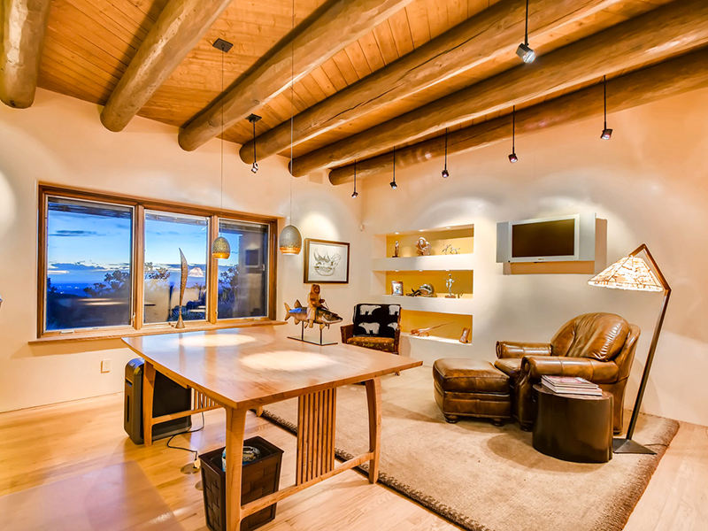 An office designed specifically for working from home in Sante Fe, New Mexico