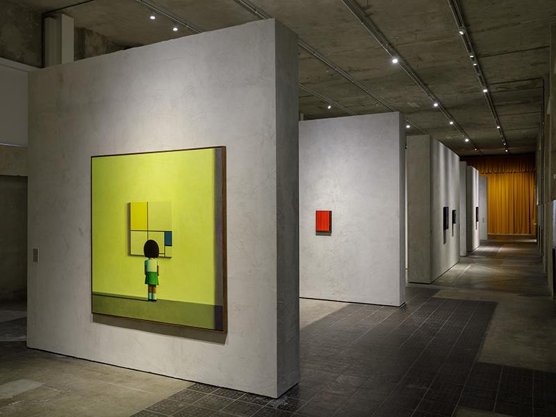The gallery at Fondazione Prada in Milan, Italy