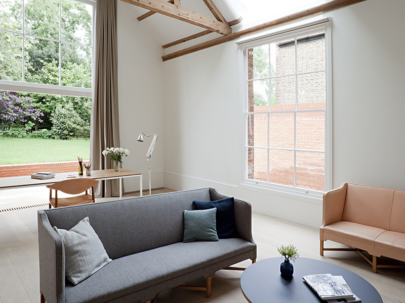 A home office in North London