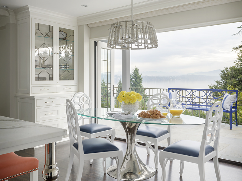 A kitchen with a view onto Madison Park
