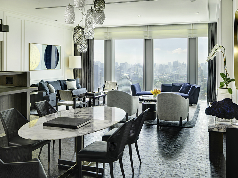Lounge with living and dining area