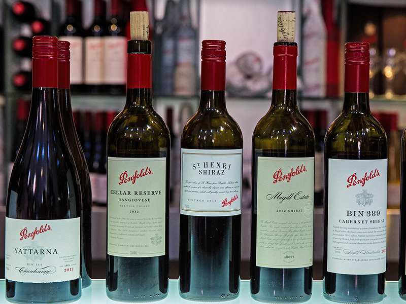 Penfolds Grange range of fine wines