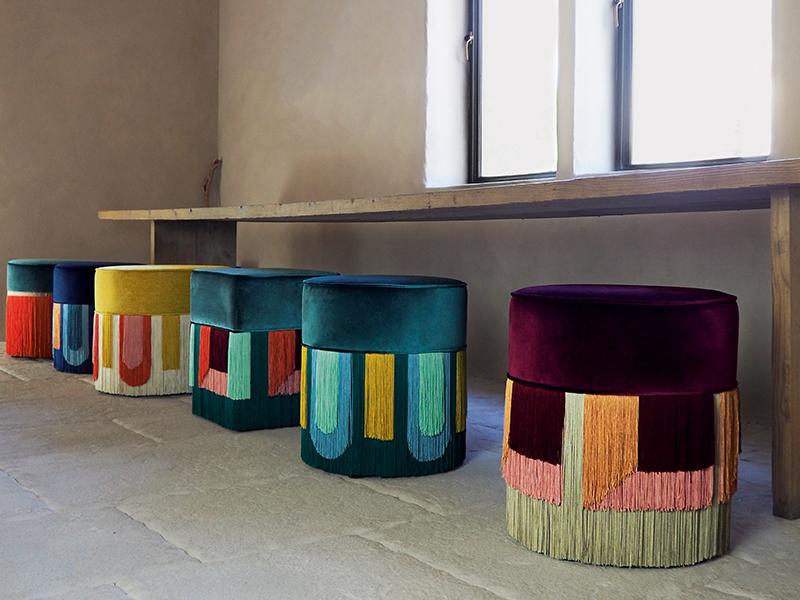 Couture poufs by Lorenza Bozzoli