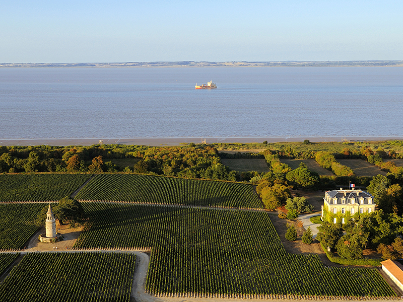 The Gironde estuary in France, known for its excellent Cabernet Sauvignon