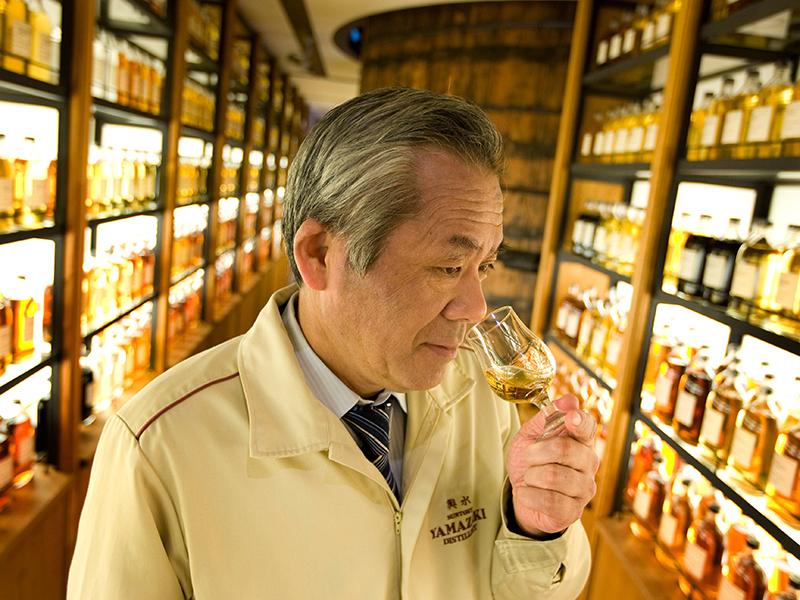 Seiichi Koshimizu, chief blender at Suntory Yamazaki whisky distillery