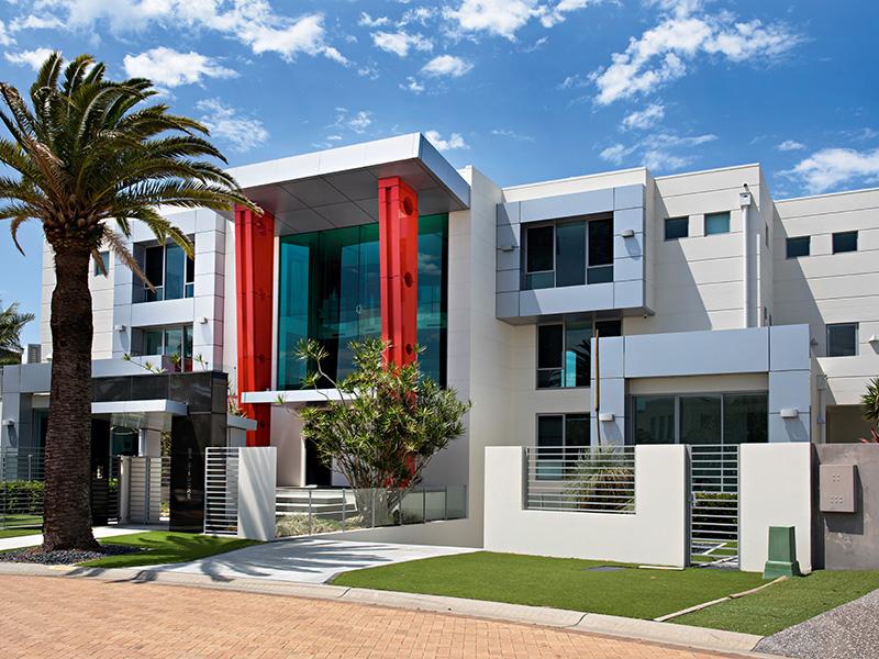 Large white modern house