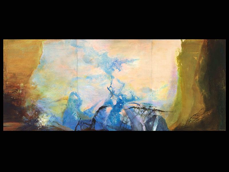 Triptyque (1987-1988) by Zao Wou-Ki
