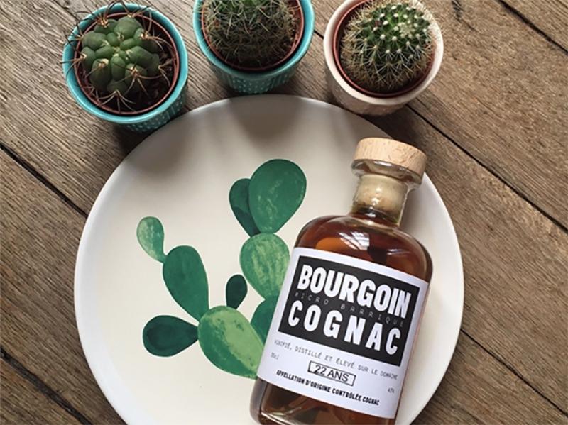 A bottle of Bourgoin Cognac