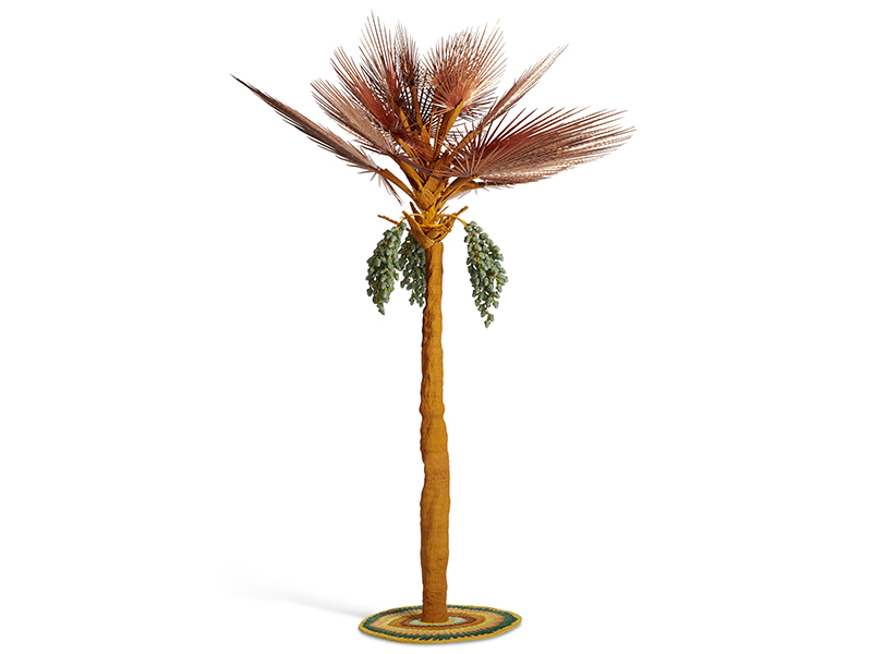 Palm Grier (2018) a sculptural palm-tree shaped lamp by the Haas Brothers