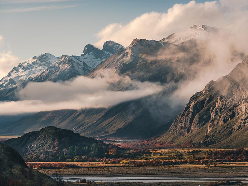 The El Chalten mountain, Patagonia, Argentina