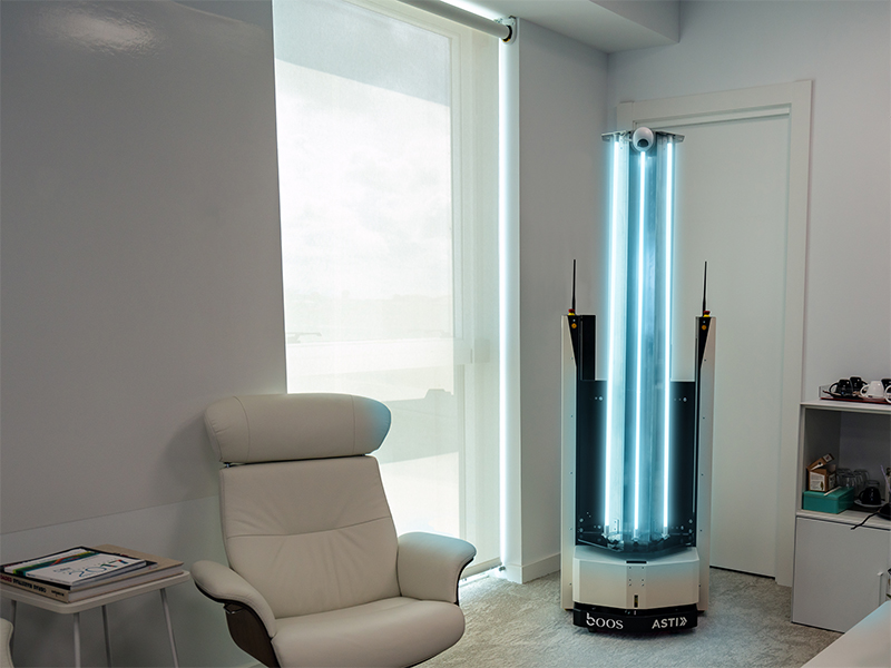 A Zen Zoe UV light robot