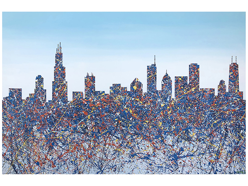 A skyline painting