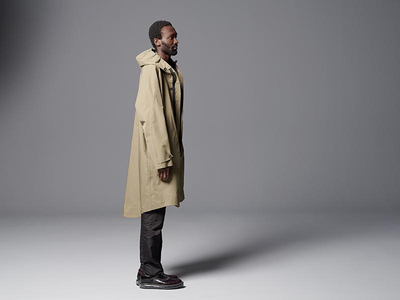 A model wears the Scarab Jacket