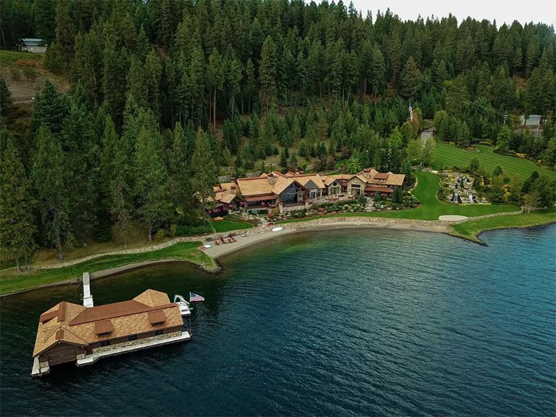 Sky Pine Estate on a lake in Idaho