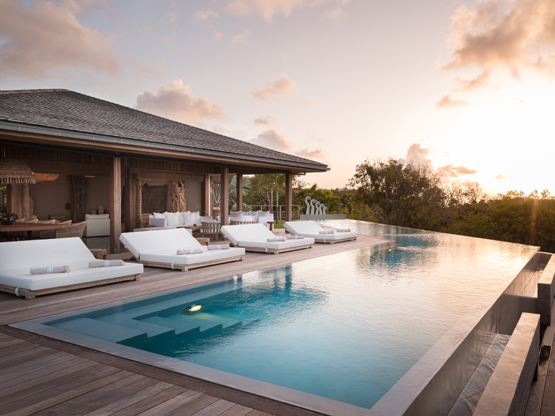 The pool of an Eden Rock villa – the perfect Caribbean vacation