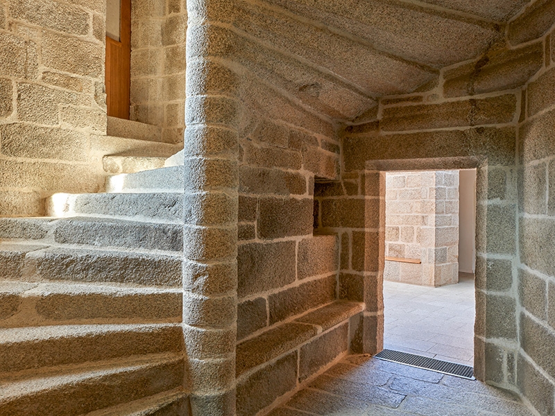 Staircase at Château du Hénan in Brittany, France