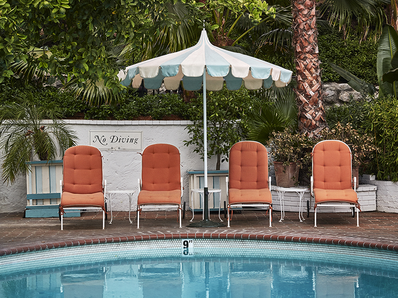 The pool at Chateau Marmont in West Hollywood