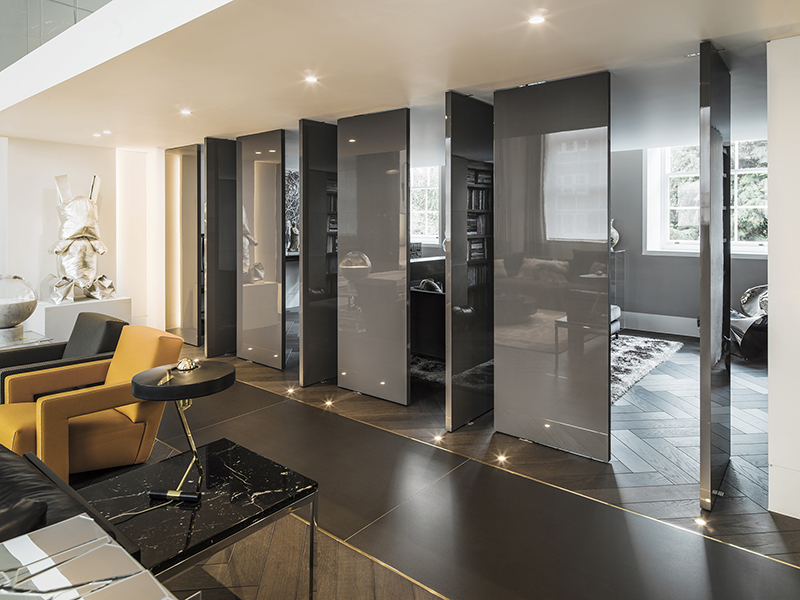Interior of home designed by Kelly Hoppen