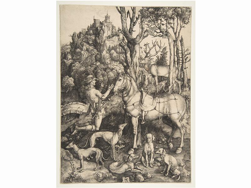 The Vision of Saint Eustace by Albrecht Durer
