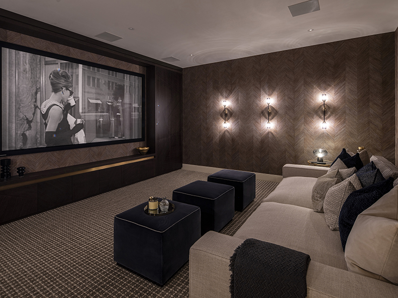 A bespoke movie theater home sanctuary