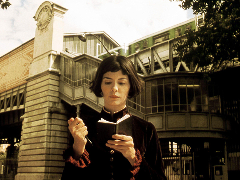 A still from Amelie, one of the top architecture movies set in Paris