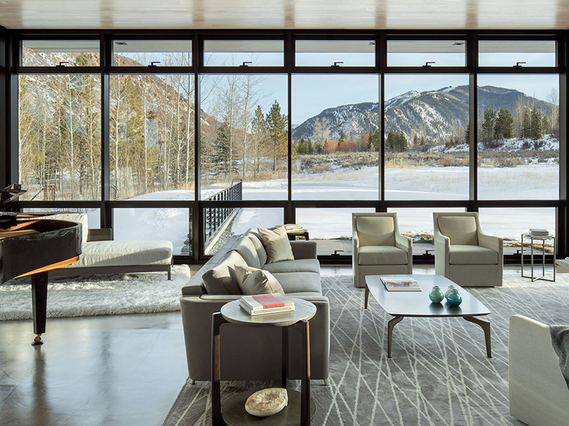 Interior of Meadow House by CCY Architects