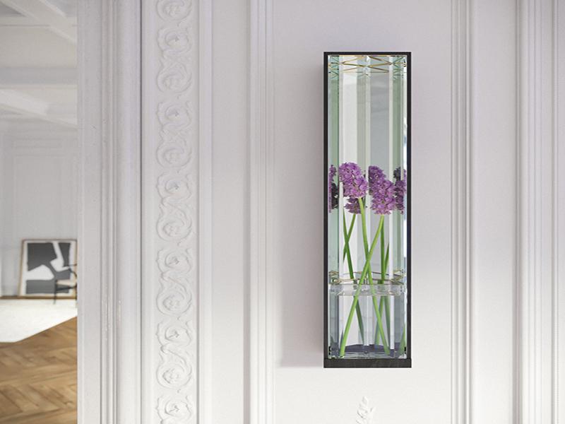 Designer vase with purple flower