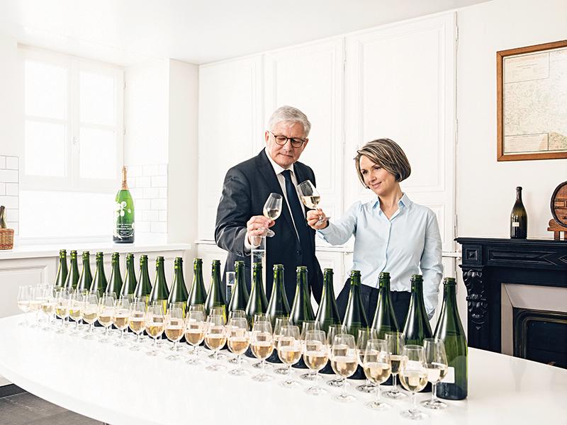 Séverin Frerson and seventh cellar master Hervé Deschamps of Maison Perrier-Jouët