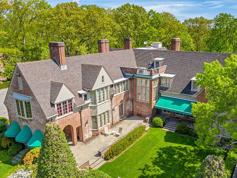 The exterior view of Laurel Hill, one of the grandest Long Island mansions