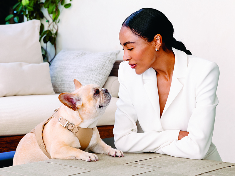 Mandy Madden Kelley with her dog Hector