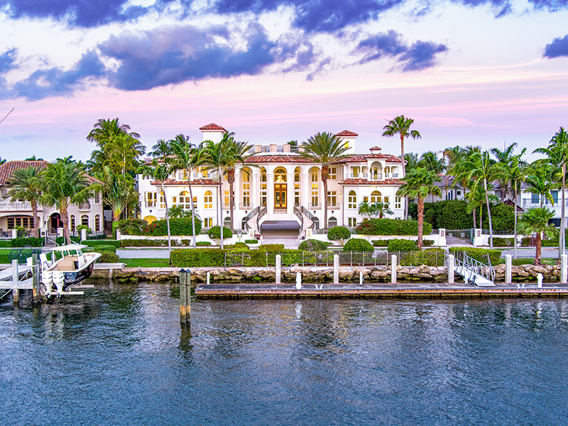 A waterfront mansion in Fort Lauderdale Florida, one of the world's top sailing locations