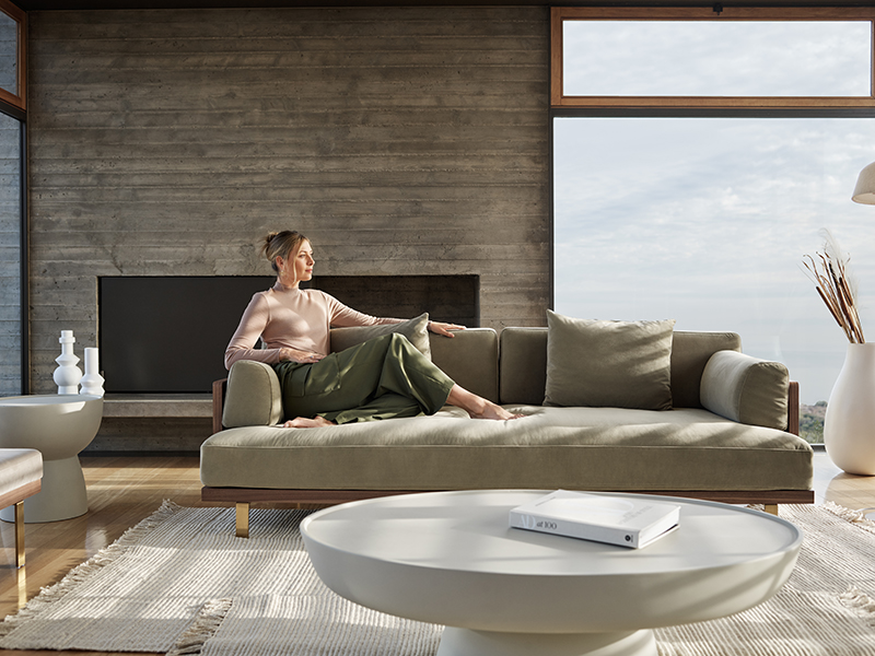 Maria Sharapova on a couch for Rove Concepts