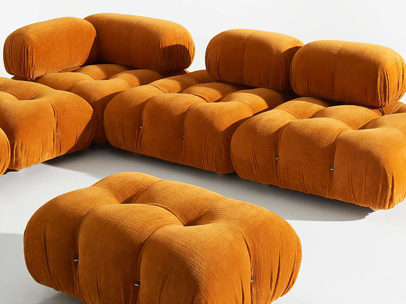 A modular Camaleonda sofa design in colorful orange