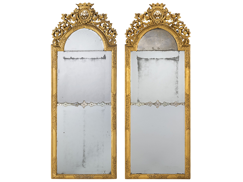 A pair of gilded mirrors from the iconic Julians Park collections