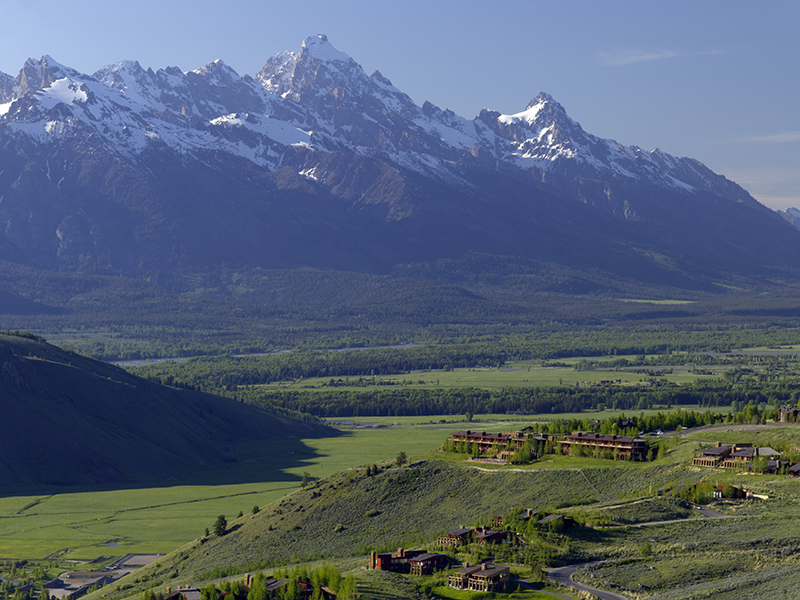 Amangani Jackson Hole with views of the Grand Teton mountains in background