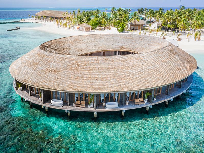 Spa island atoll in the Maldives