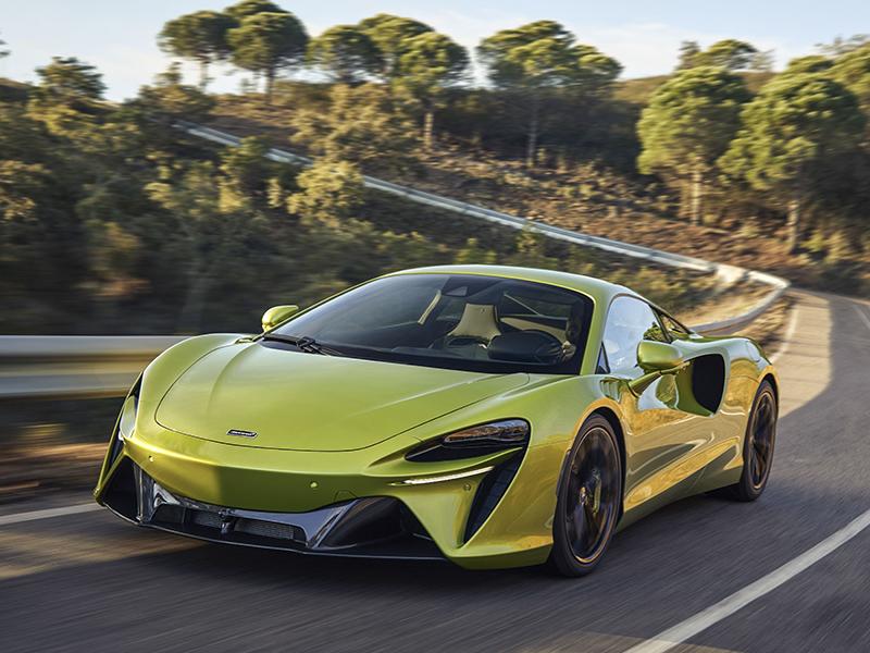 The McLaren Artura on an open road