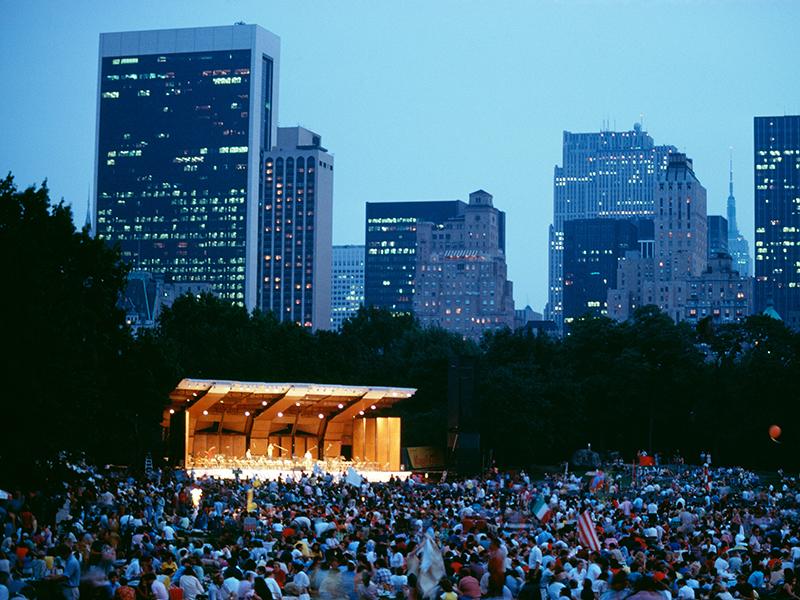 NY Philharmonic concert Central Park New York City