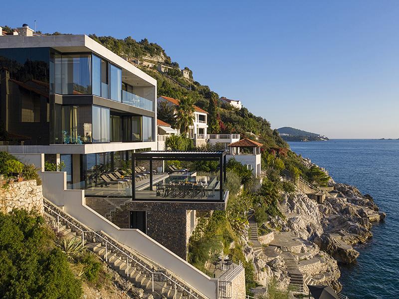Villa on a cliff