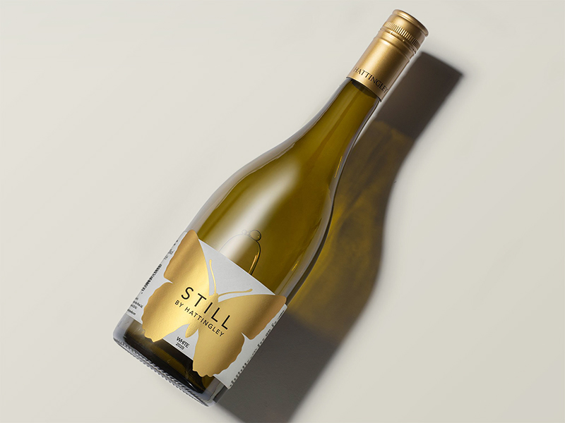 A bottle of Hattingley Valley Still Chardonnay