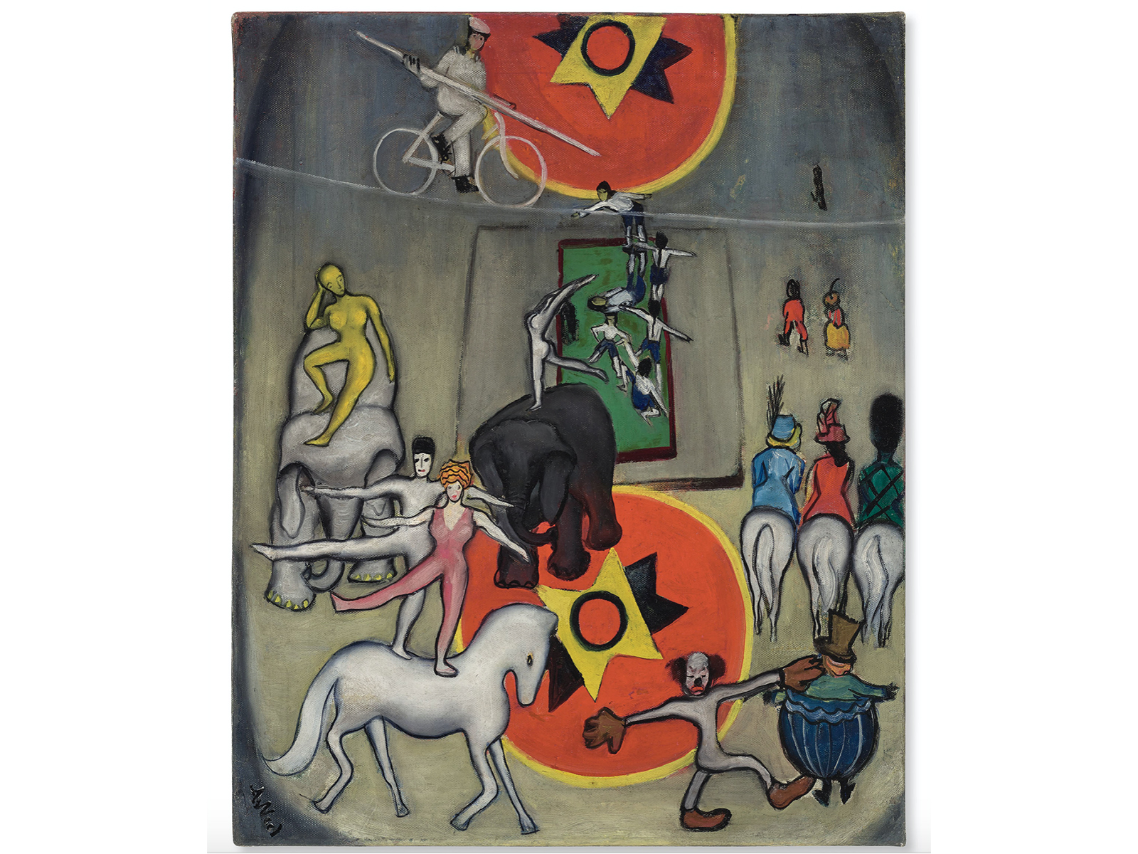 Circus, a painting by Alice Neel