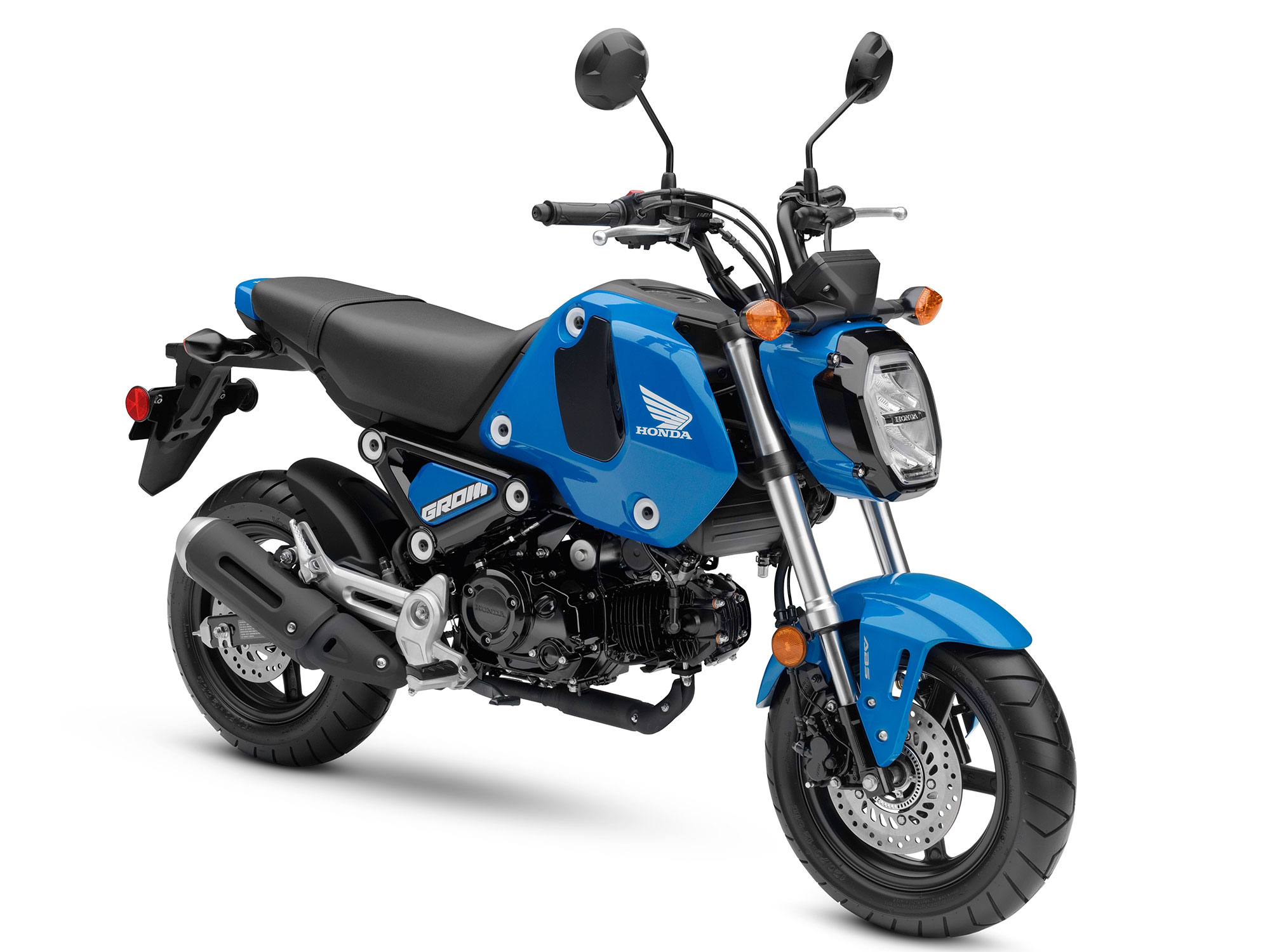 A fronA side view of the Honda Grom motorcycle