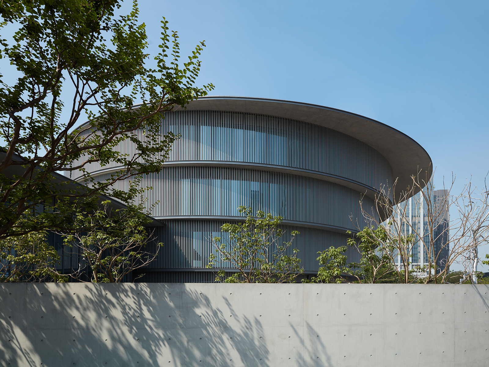 The exterior of the He Art Museum in