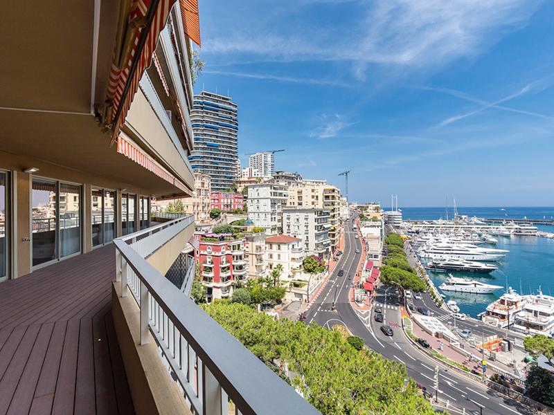 A view of Port Hercules harbor in Monaco
